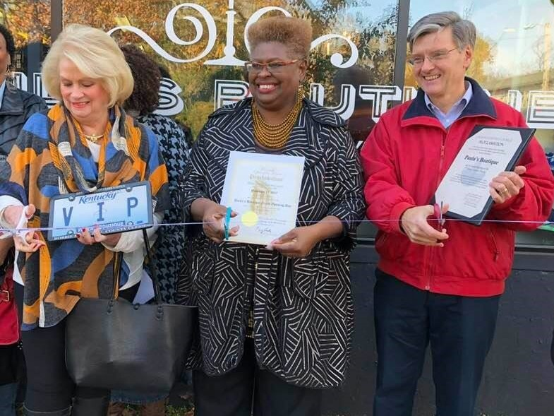 Paula's Boutique Grand Opening...with...Jefferson County Clerk Bobbie Holsclaw and Distirct 9 Metro Councilman Bill Hollander