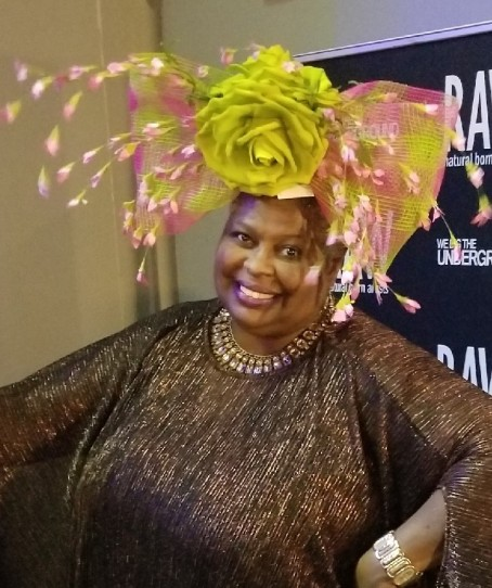 RAW - Pink and Green Fascinator